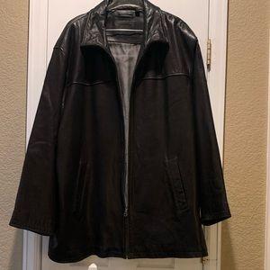 Big & Tall Roundtree & Yorke men's Leather Jacket
